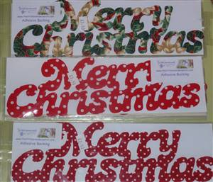 Merry Christmas Adhesive Appliques