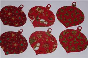 Christmas Adhesive Pre cut Appliques Red