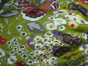 "Stretchy Jersey Type Fabric.  64"" x 1.75M"